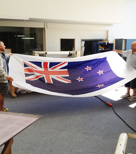 large format printed flag