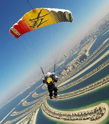 large format printed parachute