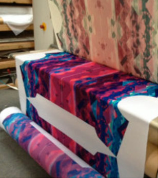 roll to roll heat press used in dye sublimation printing process