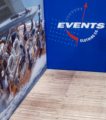 events clothing exhibition printed graphic display