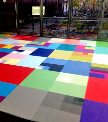 branded floor tiling