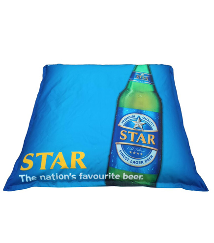 promotional printed bean bag