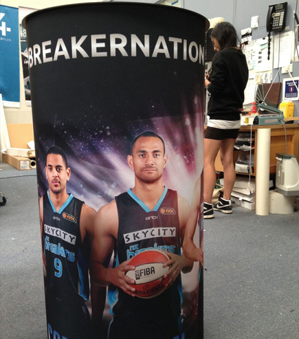 NZ breakers printed display table