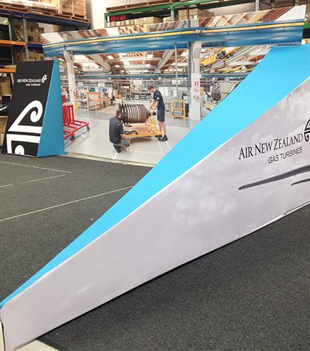 tensioned fabric display for AirNZ