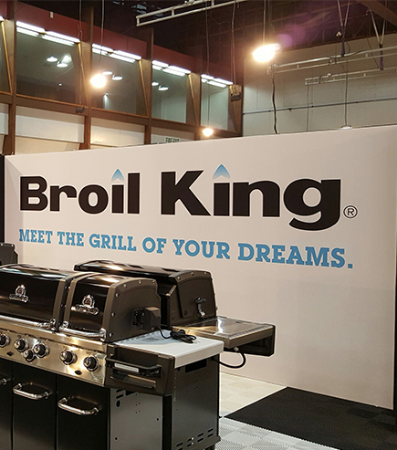 Broil King exhibition stand