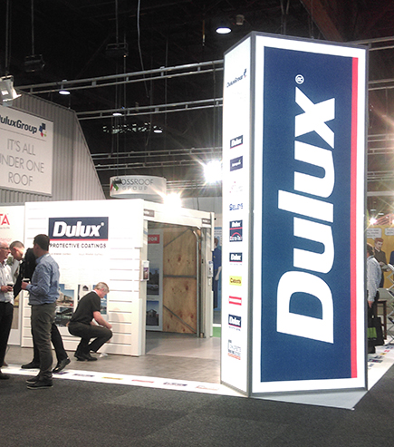 fabric tension structure for Dulux