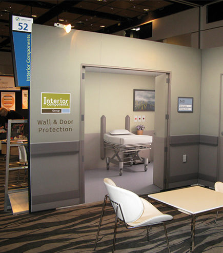 Printed exhibitiongraphics for interior components