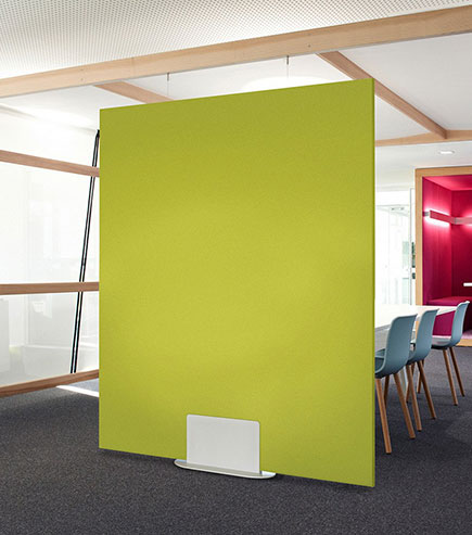 acoustic fabric panel art used for noise control