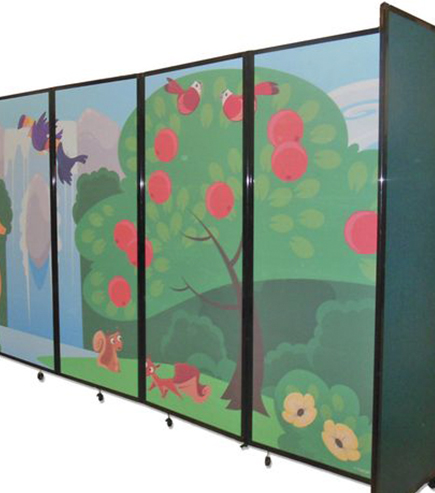 kindergarten printed partition
