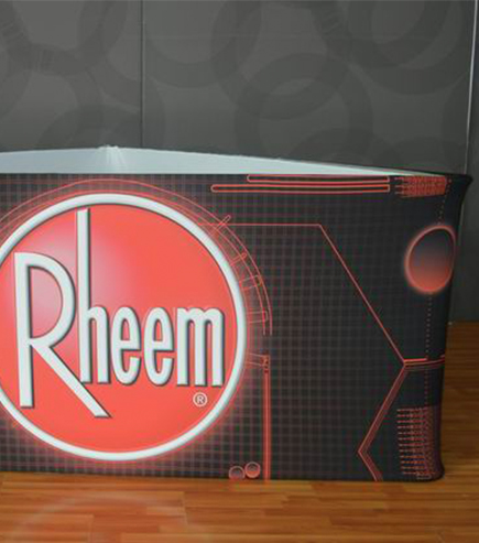 Rheem Triangular Ceiling Banner