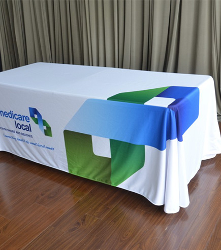 customised table cloth for Medicare