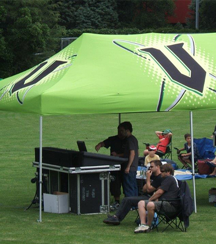 Large branded Gazebo for V Energy Drink